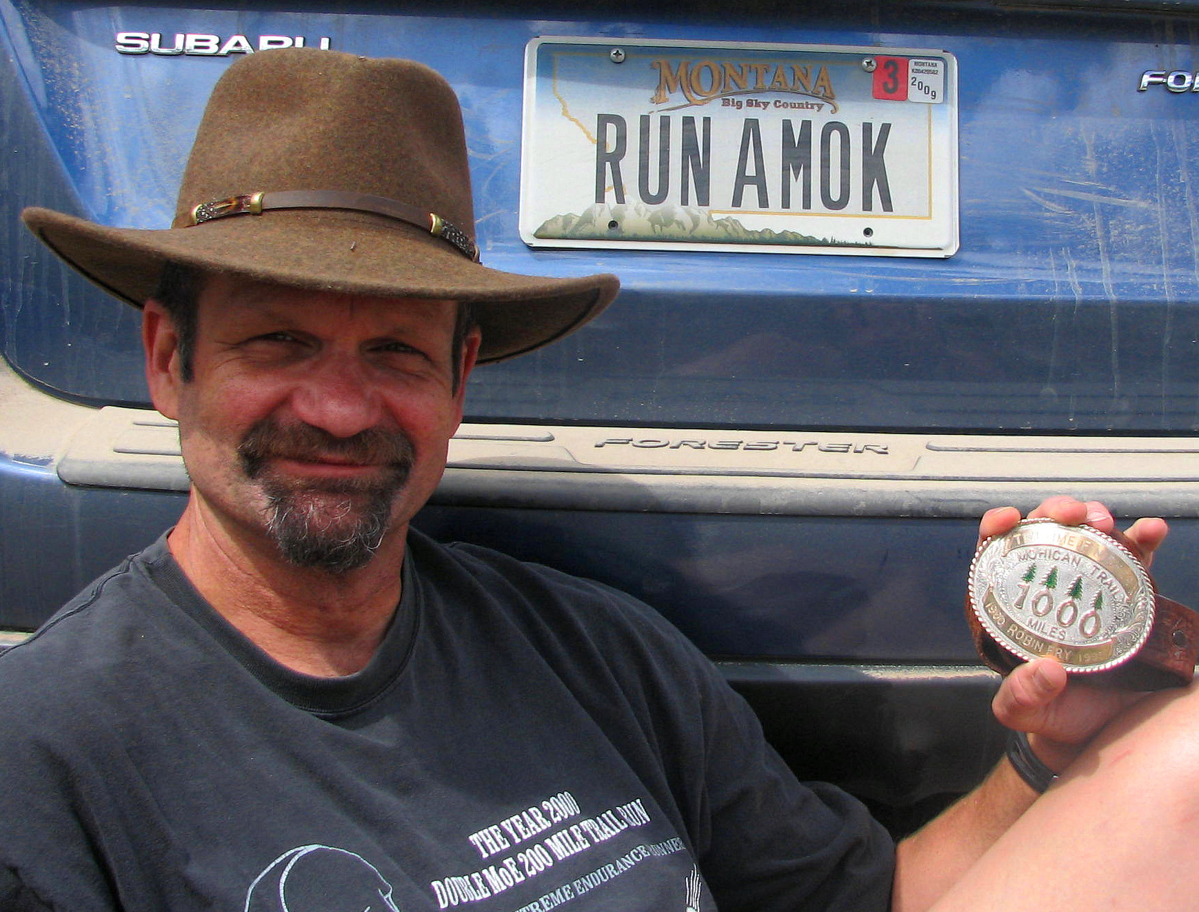 Robin Fry, First ten time finisher to earn the 1000 Mile Buckle